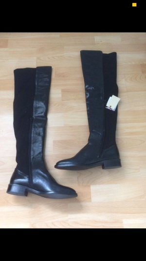 Zara Bottes d'hiver noir cuir