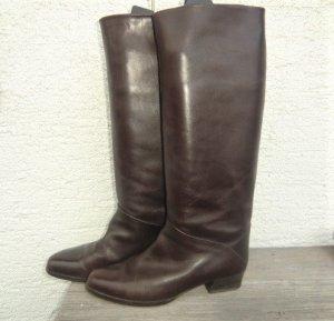 Jackboots dark brown leather