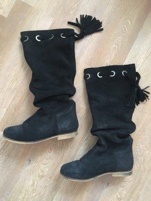 Echtleder Stiefel schwarz