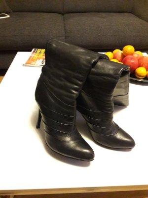 Echtleder Stiefel schwarz 37