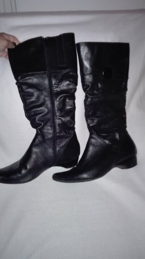 Janet D Heel Boots black leather