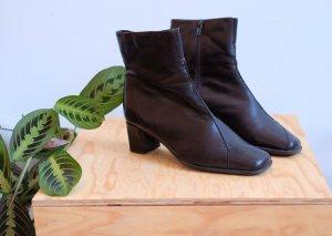 echtleder stiefeletten ankle boots blockabsatz braun glattleder 37 37,5