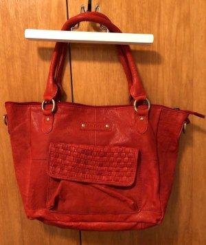 5th Avenue Borsa shopper rosso Pelle