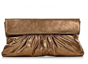 Borsa clutch bronzo Pelle