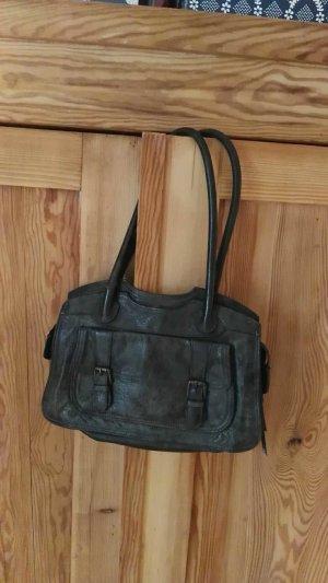 Echtleder Tasche dunkelgrün