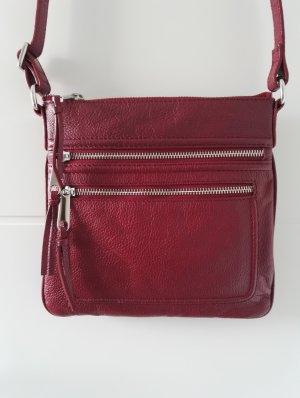 Echtleder Tasche / weinrot bordeaux / Herbsttasche / Umhängetasche / NEU