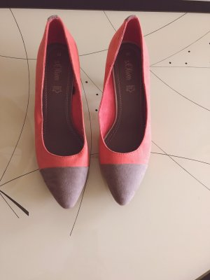 s.Oliver Pointed Toe Pumps salmon-grey