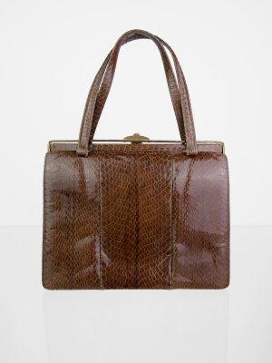 Echtleder Vintage Handtasche in Brauntönen
