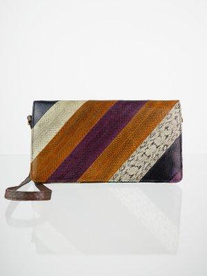 Echtleder Vintage Handtasche mehrfarbig