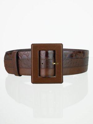 Echtleder Vintage Patchwork Taillengürtel in Brauntönen