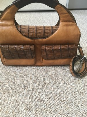 Carry Bag cognac-coloured-brown leather