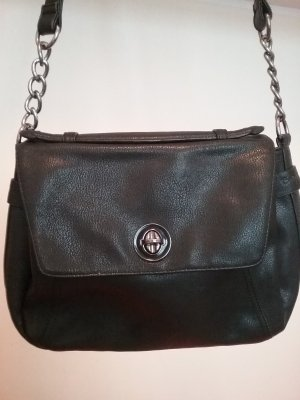 Echtlederhandtasche mit Kettenapplikationen