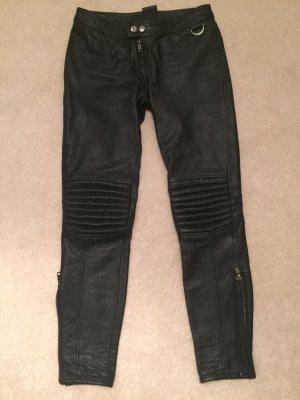 Trish Summerville for H&M Pantalón de cuero negro Cuero