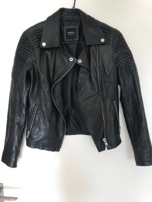 Barneys Originals Veste en cuir noir cuir