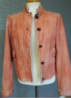 Alba Moda Leather Jacket apricot