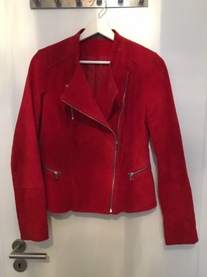 C&A Giacca in pelle rosso Pelle