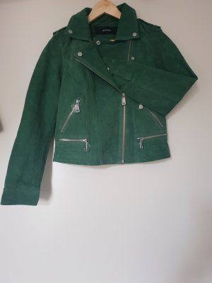 Vero Moda Leather Jacket forest green
