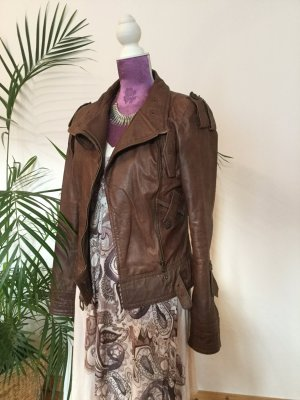Ashwood Veste en cuir brun cuir