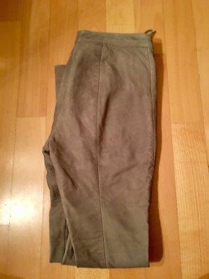 Zara Pantalon en cuir multicolore cuir