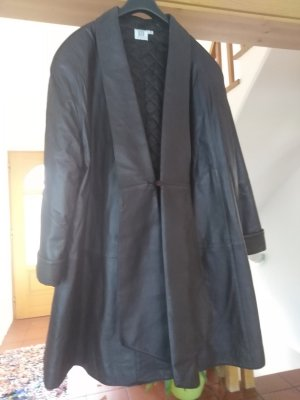 Leather Coat dark brown
