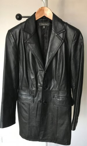 Leather Sound Manteau en cuir noir cuir