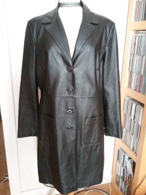 Yuppie Leren jas zwart
