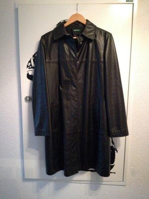 United Colors of Benetton Leather Coat black