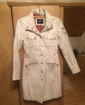 Gipsy Manteau en cuir blanc