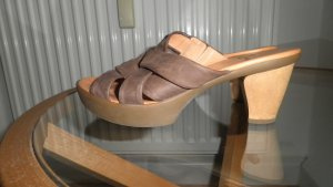 Think! Heel Pantolettes brown leather