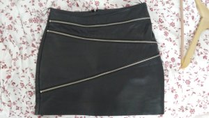 Mango Leather Skirt black