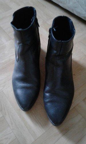 Echtlederschuhe Tamaris schwarz/metallic Gr.38