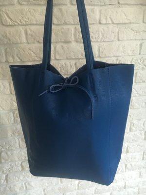 Vera Pelle Pouch Bag blue leather