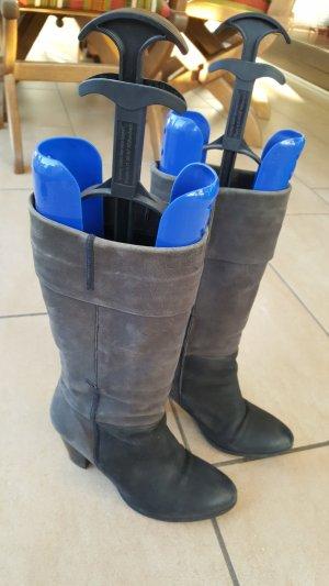 Laarzen met hak grijs