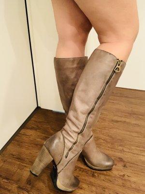 Botas con tacón marrón claro-marrón grisáceo e7f5858749ca7