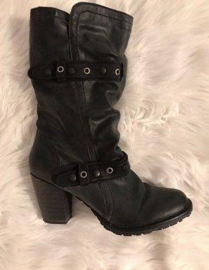Tamaris Buskins dark grey leather