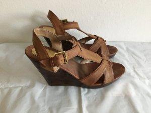Echtledertasche Sandaletten