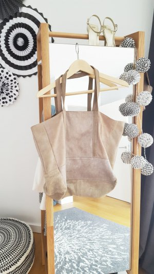 Echtledertasche / Shopper von Mango in Silber
