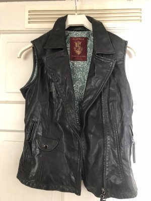 Blaumax Leather Vest black