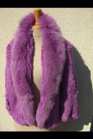Echtpelz Blaufuchs Kaninchen Pelzjacke Pelzweste neu ungetragen onesize