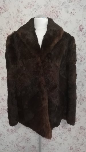 Pelt Coat brown-dark brown pelt