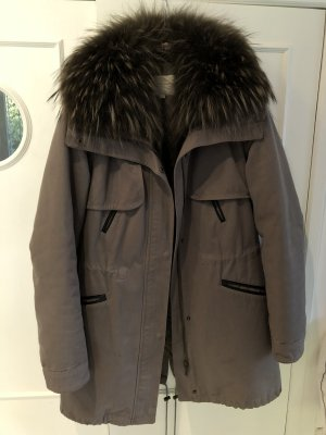 Alexandra Pelt Coat grey brown-dark grey