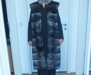 Echtpelzweste Persianer , lang/grau-schwarz