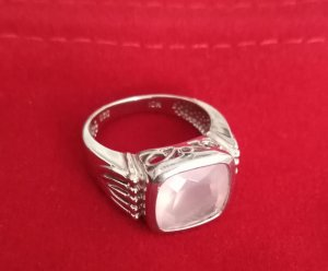Zilveren ring rosé