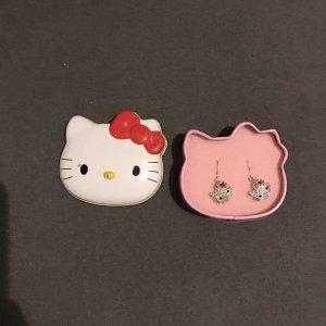 Echtsilber Hello Kitty Ohrringe NEU