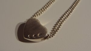 Echtsilber Kette mit Herzanhänger 925er Silber