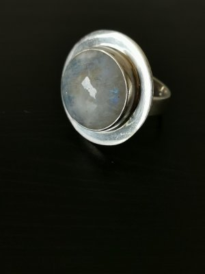 Echtsilber Mondstein Ring