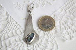 Echtsilber Ohrring 925 Sterlingsilber mit Muscheleinlage