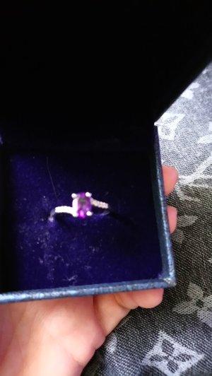 echtsilber ring gr 17 mit amethyst/topas