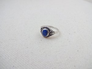 echtsilber Ring romantisch lapislazuli