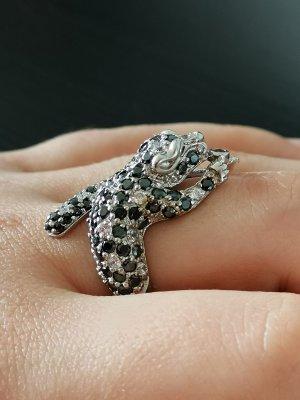 Echtsilber Ring Smaragd